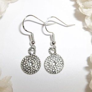 Simple Silver Circle Earrings Set Small NWT 5306